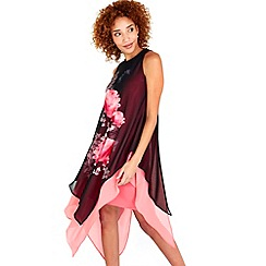 Wallis - Black rose overlayer dress