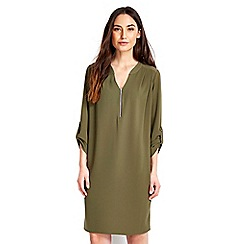Wallis - Khaki zip slouch dress