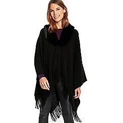 Wallis - Black faux fur collar wrap