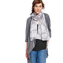 Wallis - Grey tassel butterfly scarf