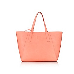 Wallis - Coral shopper bag