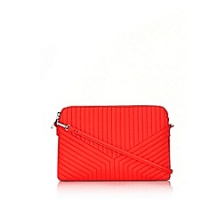 Wallis - Coral quilted cross body bag