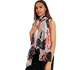 Wallis - Coral tropical scarf