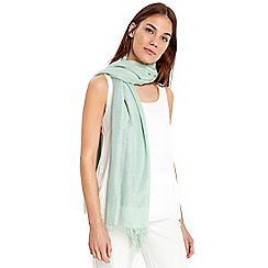 Wallis - Mint solid metallic scarf