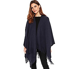 Wallis - Navy tassel trim rib wrap