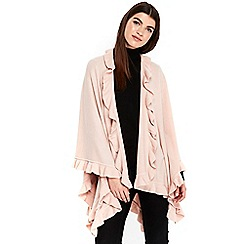 Wallis - Blush ruffle wrap