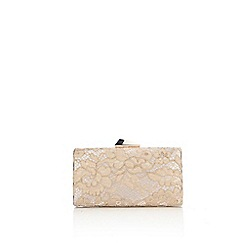 Wallis - Nude lace clutch bag