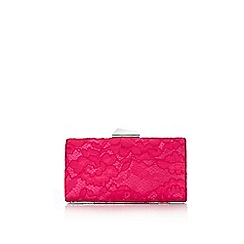 Wallis - Hot pink lace clutch bag