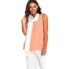Wallis - Ivory pashmina scarf