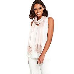 Wallis - Pale pink pashmina scarf