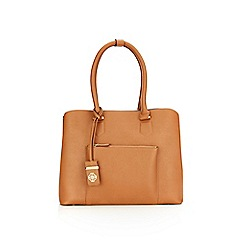 Wallis - Tan lucy 3 compartment bag
