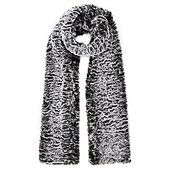 Wallis - Grey two tone faux fur scarf
