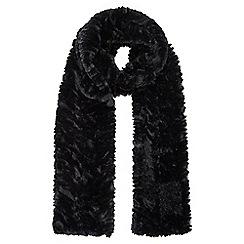 Wallis - Black faux fur scarf