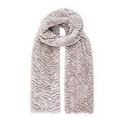 Wallis - Taupe faux fur scarf