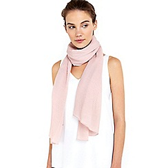 Wallis - Blush pleated scarf