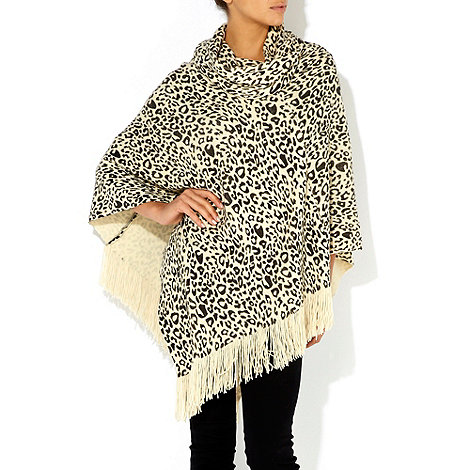 Wallis - Brown leopard poncho