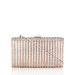Wallis - Rose gold metallic clutch bag