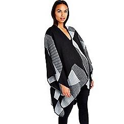 Wallis - Black patchwork wrap