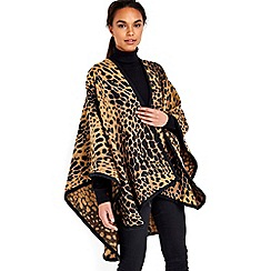 Wallis - Camel animal print wrap