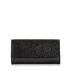 Wallis - Black diamonte clutch bag