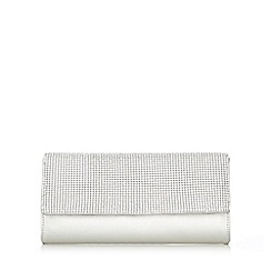 Wallis - Silver diamonte clutch bag
