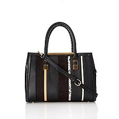 Wallis - Black panel tote bag