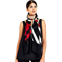 Wallis - Red chevron printed scarf