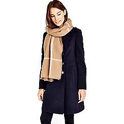 Wallis - Stone window pane check scarf