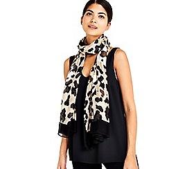 Wallis - Stone animal border scarf