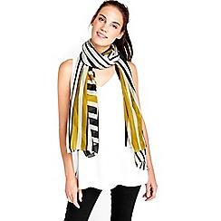 Wallis - Ochre stripe scarf