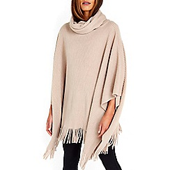 Wallis - Camel square hem super soft poncho