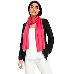 Wallis - Bright pink ladder weave scarf