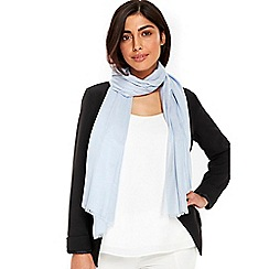 Wallis - Light blue ladder weave scarf