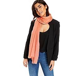 Wallis - Coral ladder weave scarf