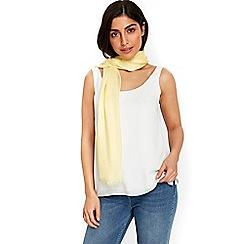 Wallis - Lemon ladder weave scarf
