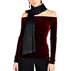 Wallis - Black heidy paisley scarf