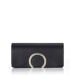 Wallis - Black half circle clutch