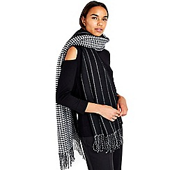 Wallis - Black reversible cold weather scarf