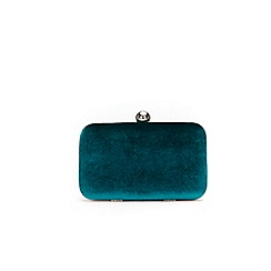 Wallis - Teal velvet clutch box