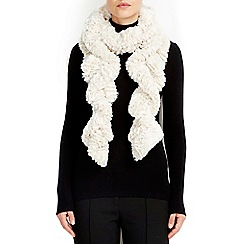 Wallis - Ivory scale twirly fur scarf