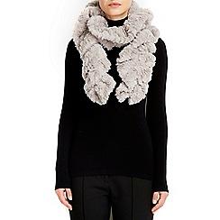 Wallis - Taupe scale twirly fur scarf
