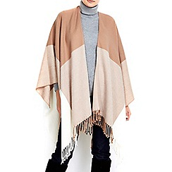 Wallis - Camel colour block wrap