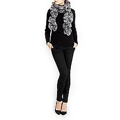 Wallis - Grey two tone twirly scarf