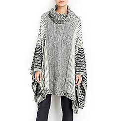 Wallis - Monochrome pepperpot poncho