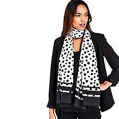 Wallis - Spot border scarf
