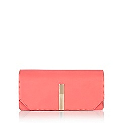 Wallis - Pink metal bar clutch