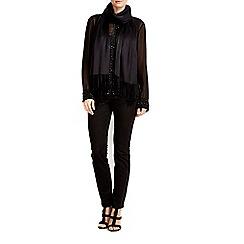 Wallis - Black luxe pashmina