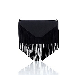 Wallis - Black suedette tassel bag