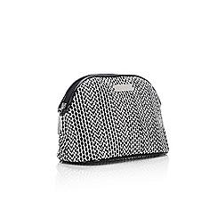 Wallis - Monochrome printed cosmetic bag