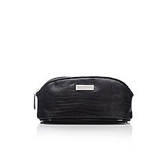 Wallis - Black snake cosmetic bag
